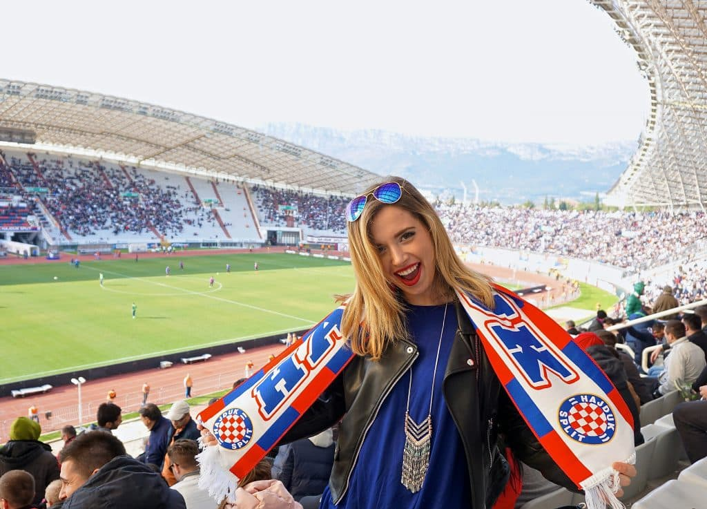 Hajduk football (soccer) game in Split, Croatia. Seeing a match while in town is a must in Split, Croatia.
