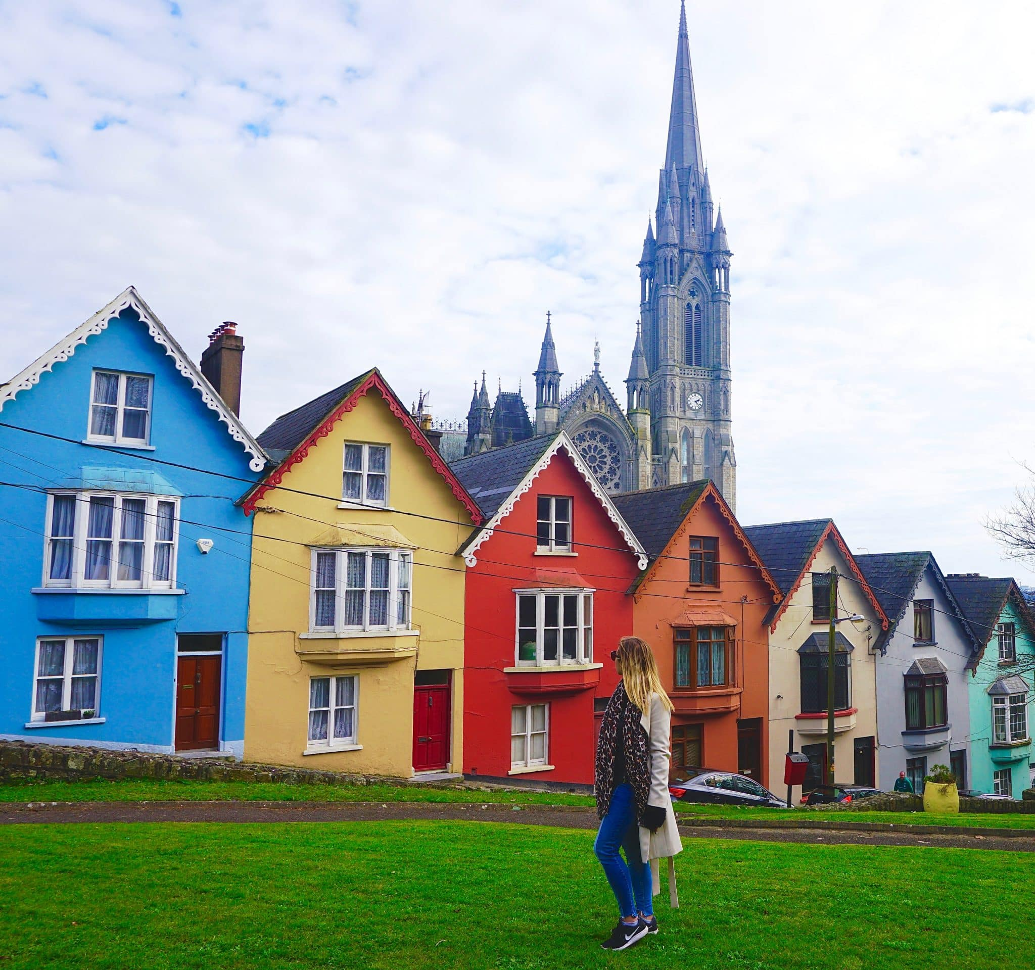 """Deck of Cards"" row of colorful houses in Cobh, Ireland. This is a perfect day trip while exploring Cork County."