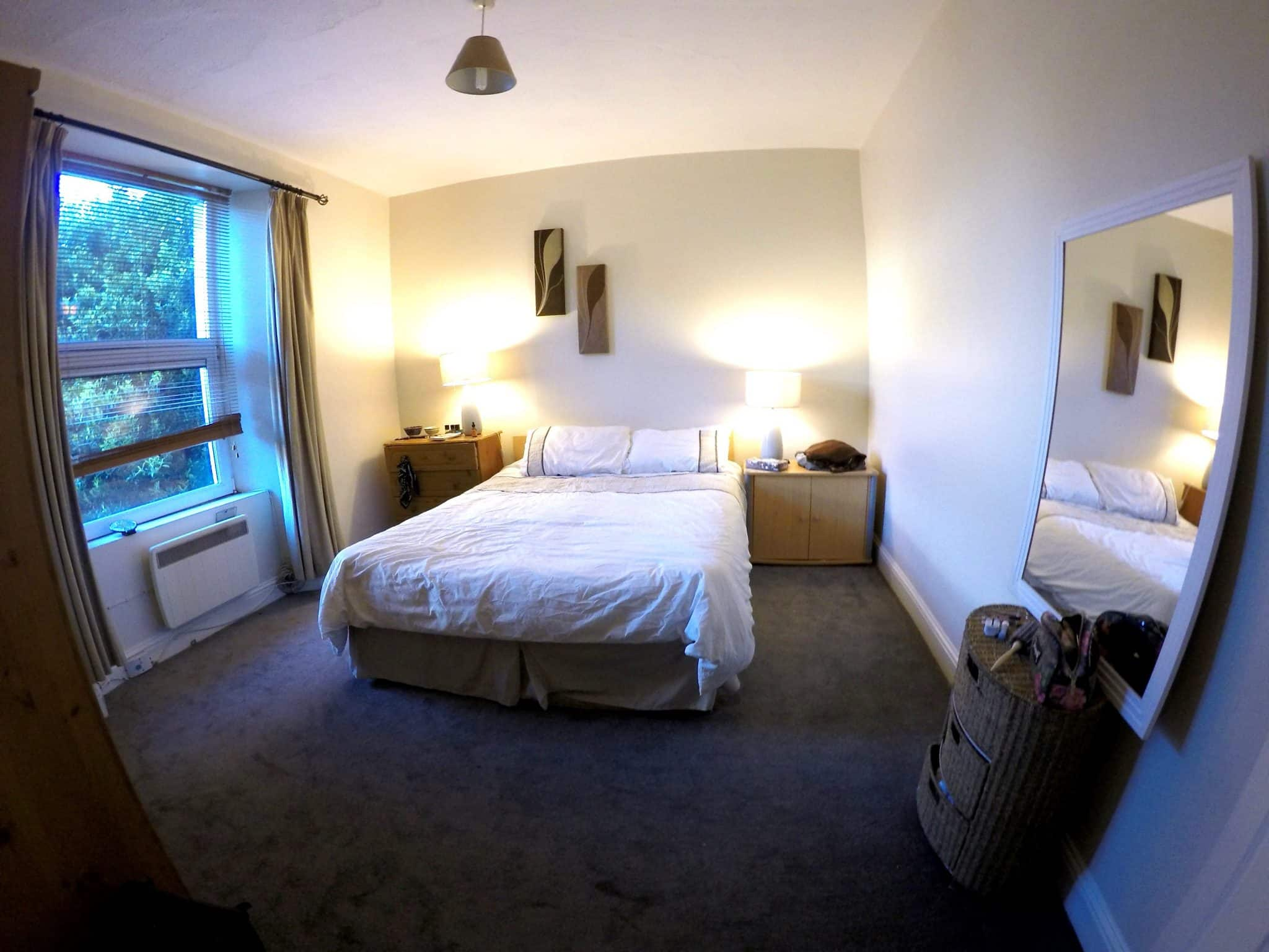 One bedroom apartment in Cork City, Ireland for short term rental. This was perfect for us on an Irish Working Holiday Visa.