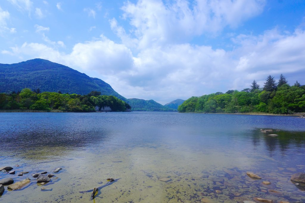 View of Killarney National Park near the Ring of Kerry in Southern Ireland.