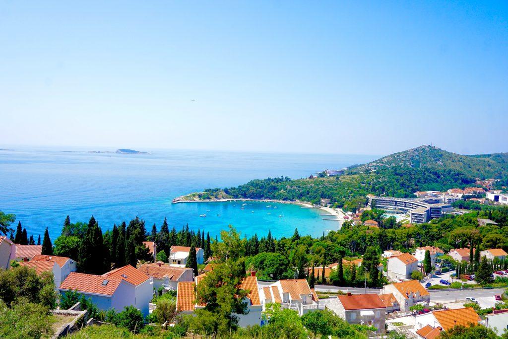 View of Srebeno bay near the Sheraton Hotel from a Mlini Villa.
