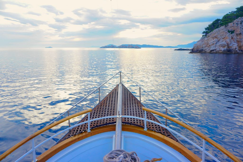 Sailing near orasac and Dubrovnik, Croatia.