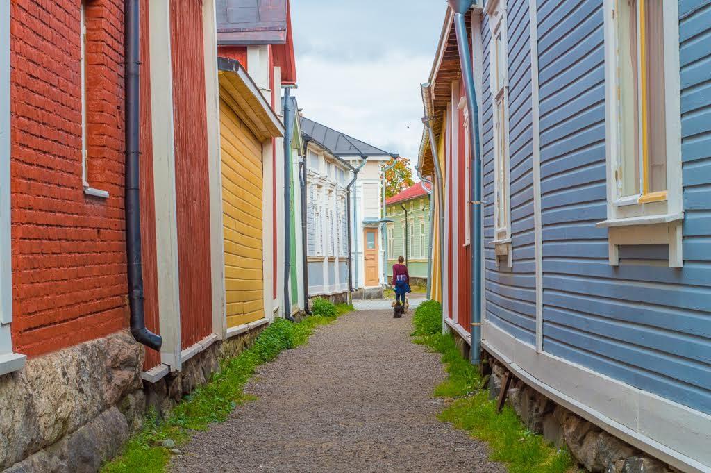 Colorful town in Finland. Rauma, Finland