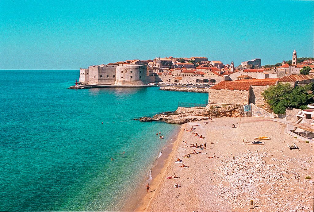 Banje Beach in Dubrovnik, Croatia