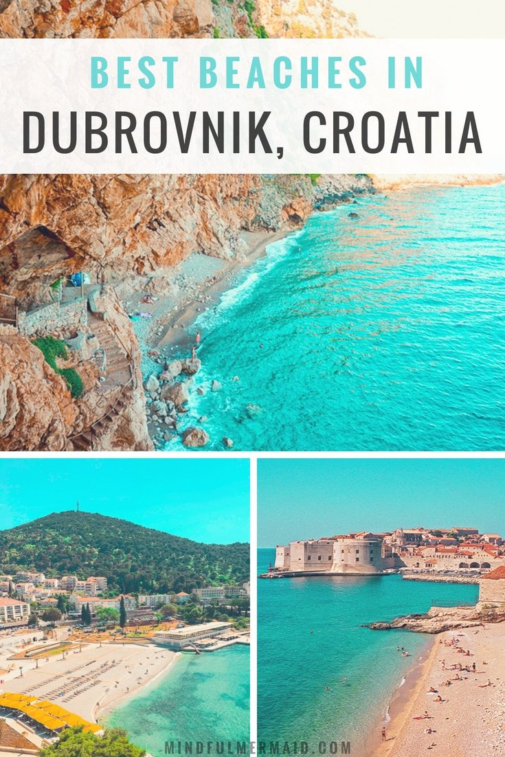 Dubrovnik is filled with the best beaches in Croatia. Here are the best beaches in Dubrovnik, Lokrum, Lapad, and the surrounding area. #Dubrovnik #croatia #bestbeaches