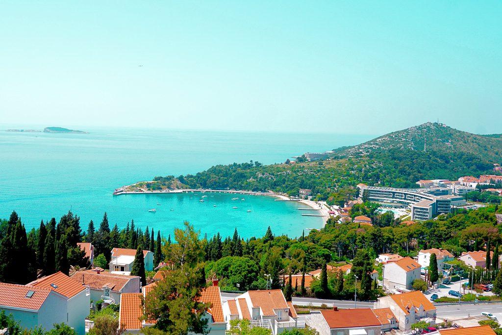 View of Srebeno in the Zupa region of Dubrovnik, near Sub City mall.
