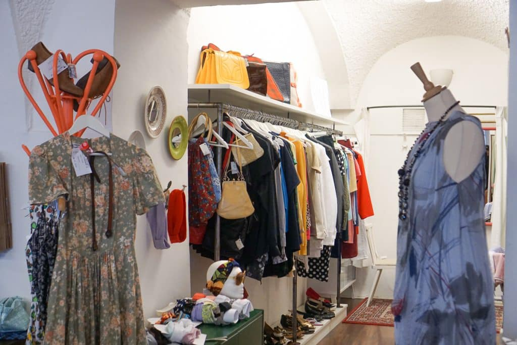 Offline Retail Shop in Graz, Austria. The second-hand shop is a non-profit that provides employment to those recovering from addiction.