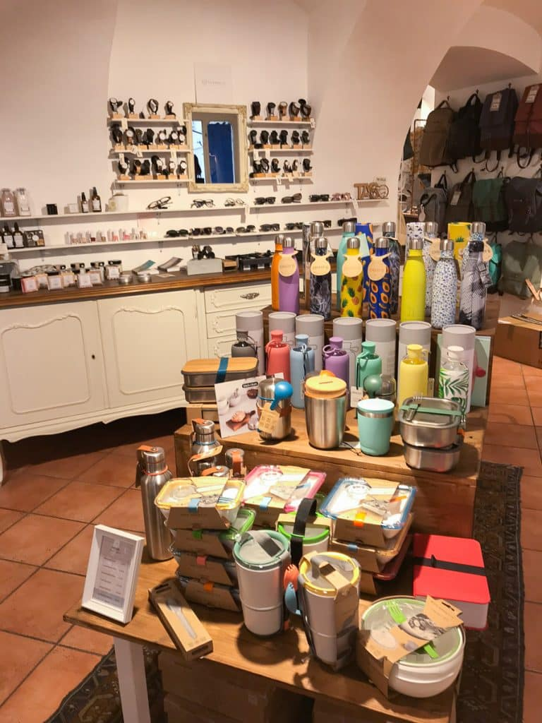 Plastic-free alternatives sold at this fair-trade shop in Graz, Austria.