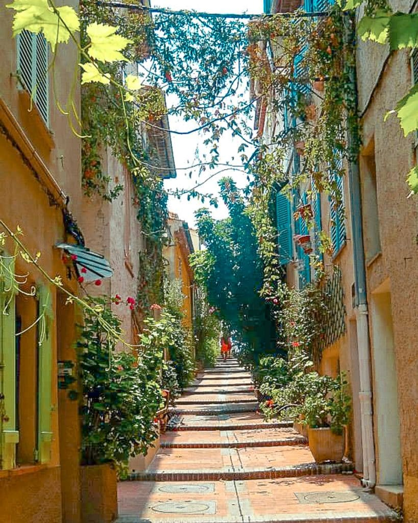Lush streets of Antibes old Town