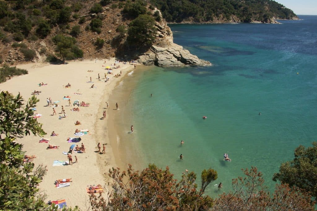 Remote beach along the French rivera within the region of Calavaire Sur Mer.