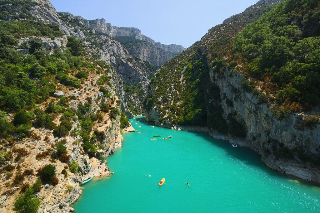 Verdon Gorges in the Verdon national park.