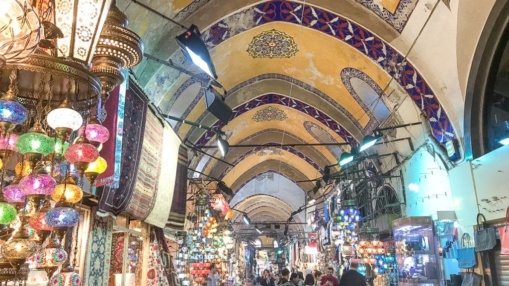 Is Istanbul safe? Photo of Grand Bazaar in Istanbul, 2019