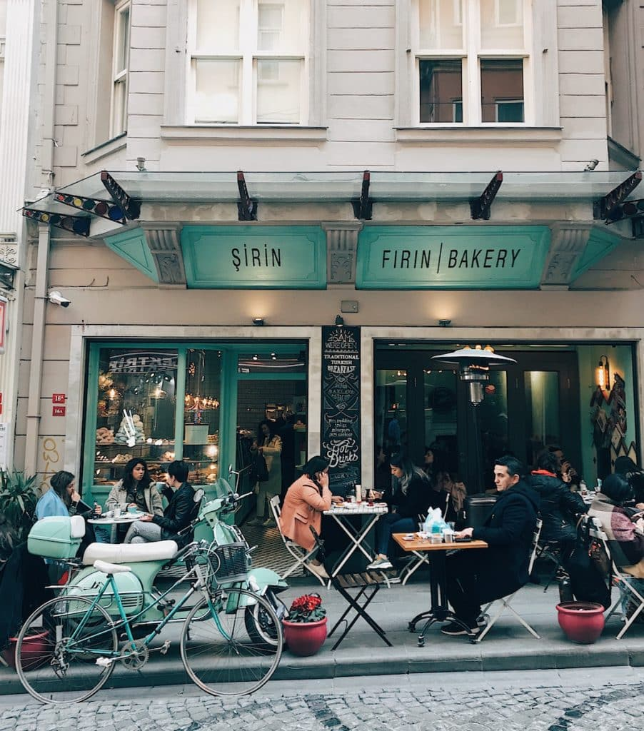 Cute cafe and Instagram spot in Istanbul.
