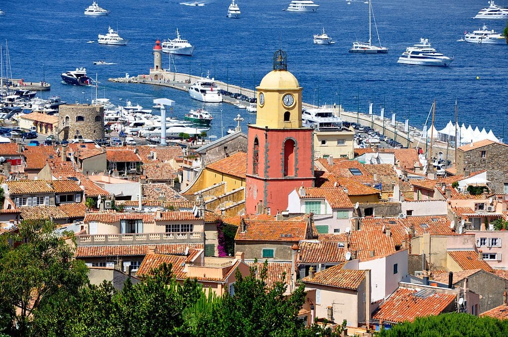 The luxury resort town of Saint Tropez. This is one of the popular day trips from Nice, especially by boat.