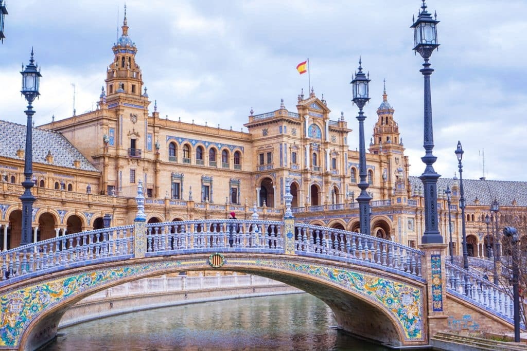 Plaza de Espana bridge, one of the best things to do in Seville.