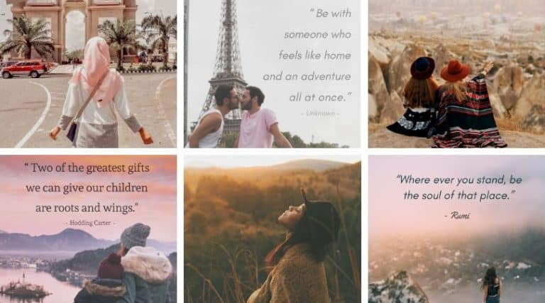 travel captions and short travel quotes