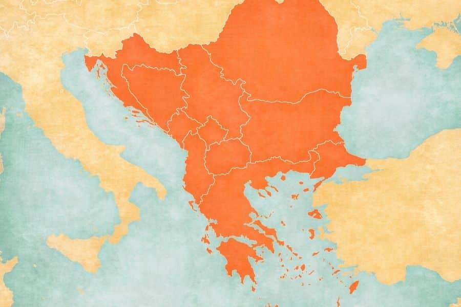 balkans map: balkan foods