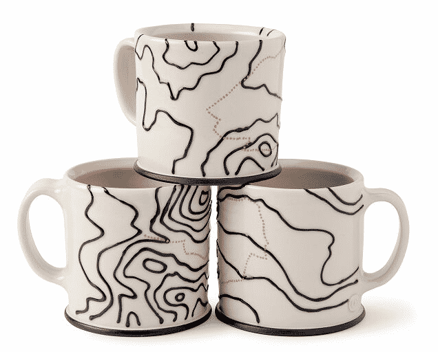 hiking trail mug.  unique gifts for travelers